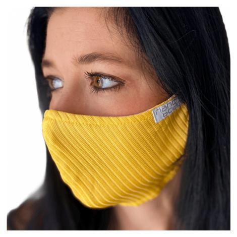 NANO rouška FIX AG-TIVE 10F 99,9% (2-vrstvá s kapsou, fixací nosu a 10 filtry) Žlutá