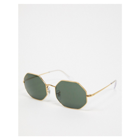 Ray-ban octagon sunglasses in gold ORB1973