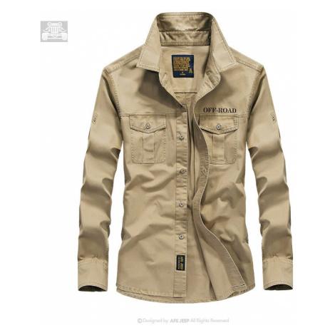 Pánská neformální košile bavlněná košile Military army styl