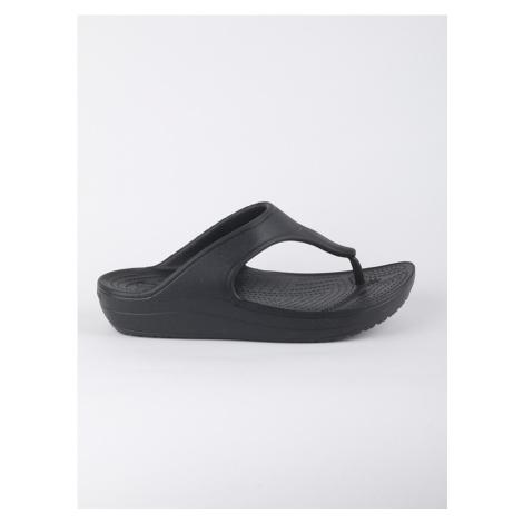 Žabky Crocs Sloane Platform Flip - Black Černá