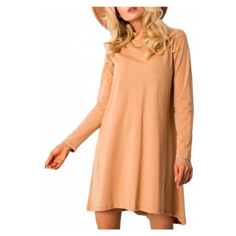 Světle hnědé šaty volného střihu Rue Paris
