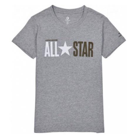 Converse ALL STAR SHORT SLEEVE CREW T-SHIRT šedá - Dámské tričko