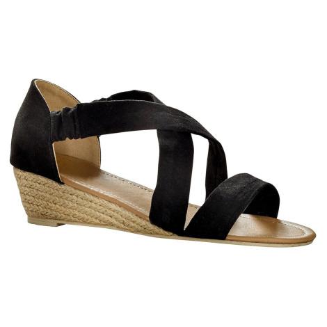 Blancheporte Sandály v semišovém vzhledu černá