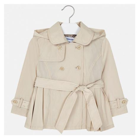 Dívčí kabát Mayoral trench cot 3474 | oříšková