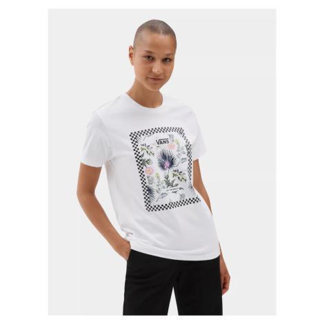 Bílé dámské tričko s potiskem VANS
