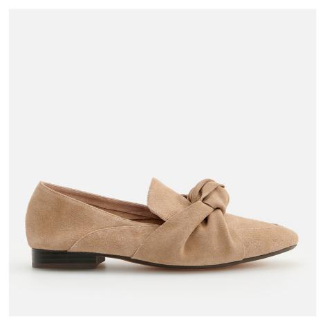 Reserved - Kožené pantofle - Béžová