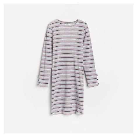 Reserved - Šaty z žebrované žerzejové pleteniny - Vícebarevná