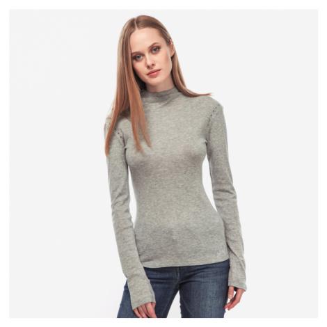 Guess dámské šedé tričko se stojáčkem