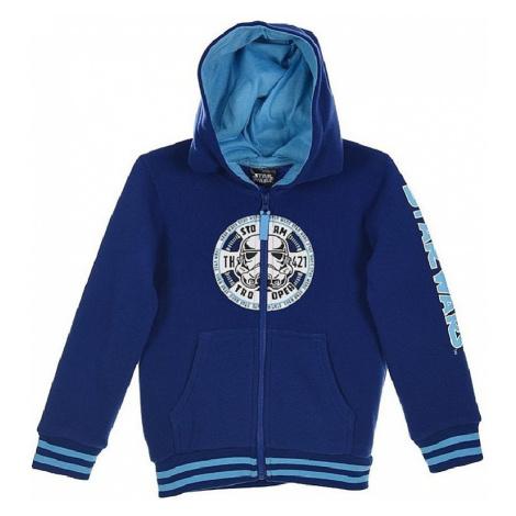 Star wars - modrá chlapecká mikina se zipem
