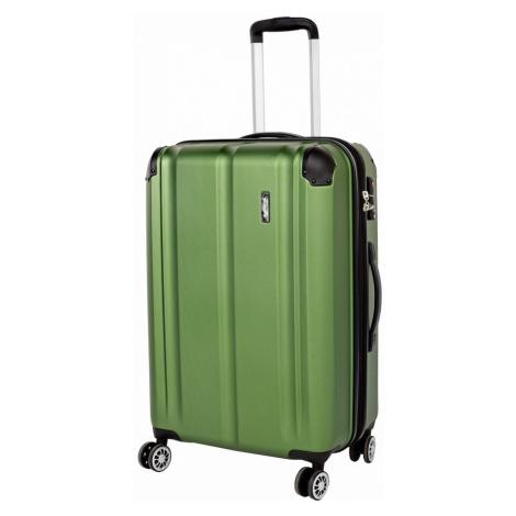 Travelite Cestovní kufr City 4w M Green 78/86 l