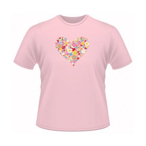 Pánské tričko SuperStar Květinové srdce
