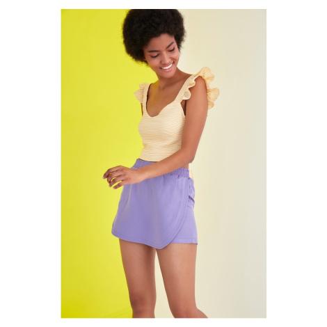 Trendyol Lilac Waist Elastic Short & Bermuda