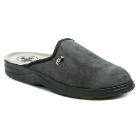 Medi Line 617 šedé pánské zdravotní pantofle MEDI LINE SHOES