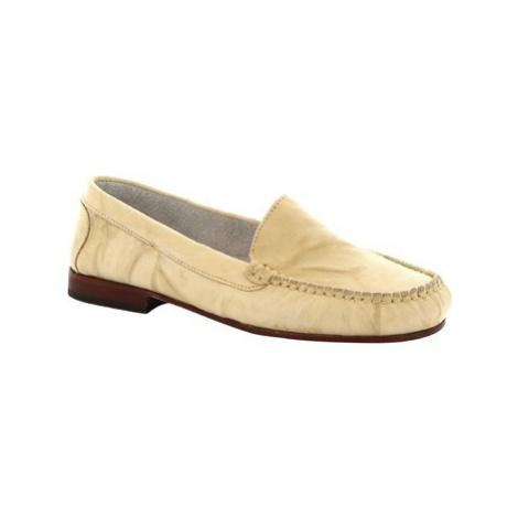Leonardo Shoes 318 STROPICCIATO PANNA FONDO CUOIO Béžová