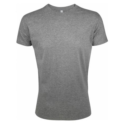 SOĽS Pánské triko REGENT FIT 00553350 Grey melange SOL'S