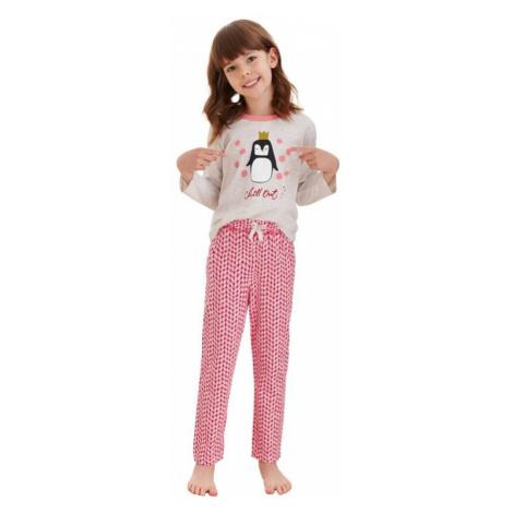 Dívčí pyžamo Maja béžové tučňák Taro