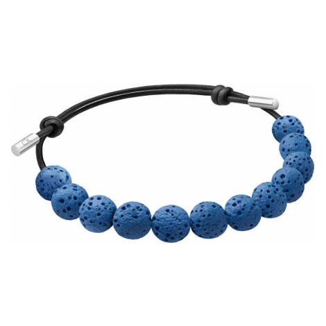 Calvin Klein Náramek z modrých lávových kamenů Soulful KJ8NLB14010