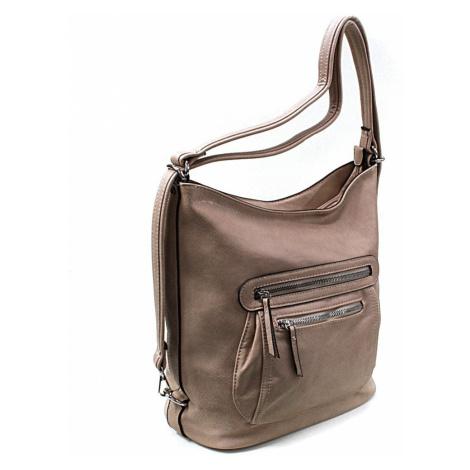 Hnědobéžová dámská crossbody kabelka a batoh Ascelina Mahel