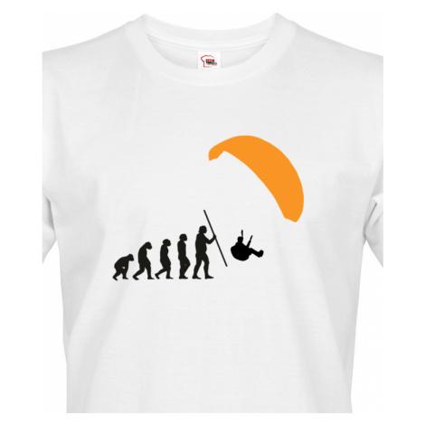 Pánské tričko Paragliding evolution - tisk na kvalitní textil