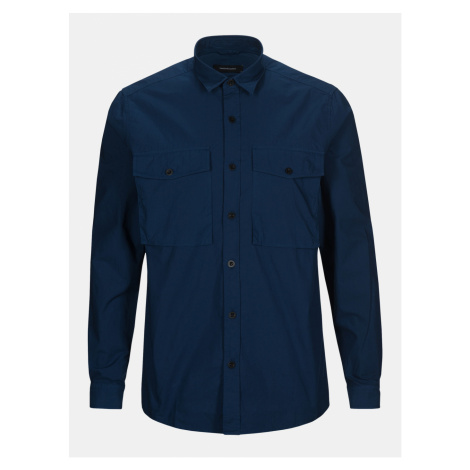 Košile Peak Performance M Urban Pocket Shirt - Modrá