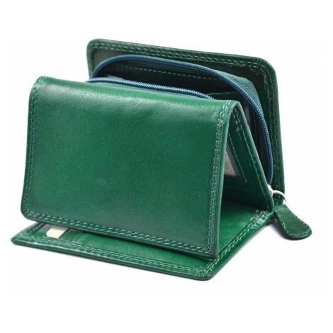 Dámská kožená peněženka na výšku se zipem na mince zelená, 9 x 0 x 12 (SB00-V908-04KUZ)