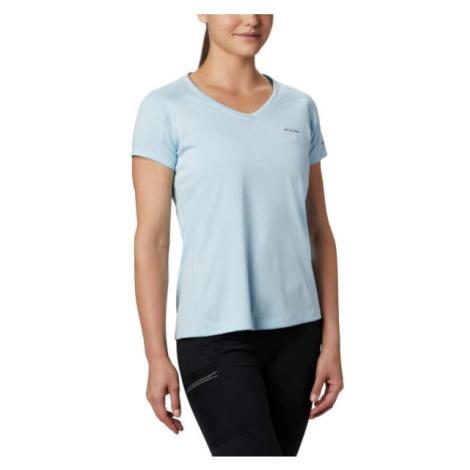 Columbia ZERO RULES SHORT SLEEVE SHIRT modrá - Dámské triko