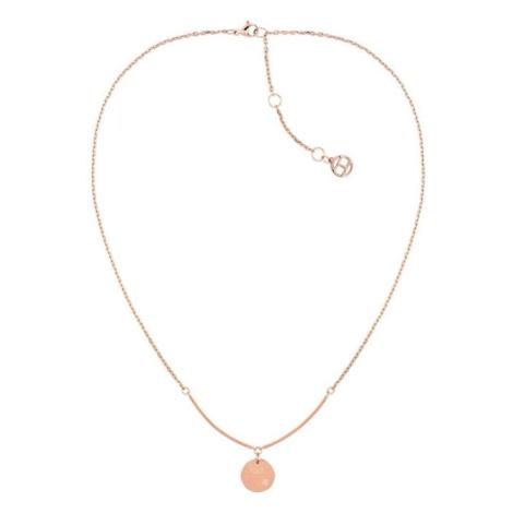Tommy Hilfiger Stylový pozlacený náhrdelník s přívěskem TH2780281