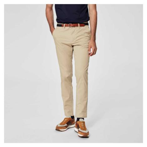 Béžové kalhoty – Slim fit Selected