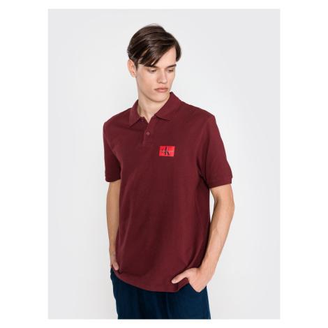 Polo triko Calvin Klein Červená