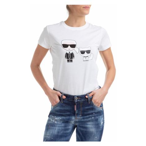 Bílé tričko KARL LAGERFELD ikonik