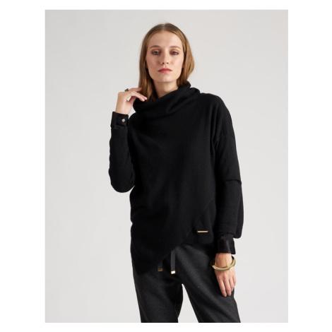 Svetr La Martina Woman Tricot Wool/Cashmere/Vis - Černá