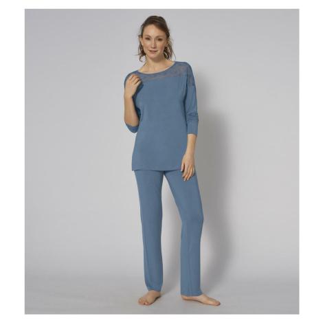 Dámské pyžamo Amourette PK LSL 01 modré - TRIUMPH