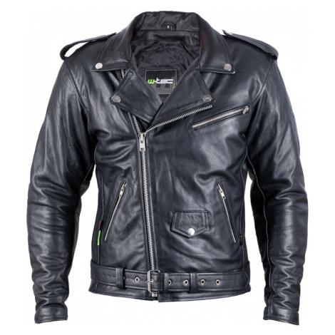 Kožená Moto Bunda W-Tec Perfectis Černá