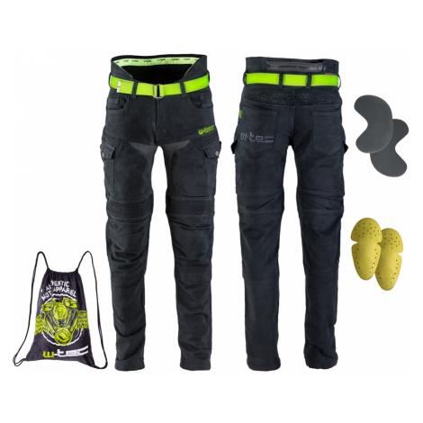 Pánské moto jeansy W-TEC Aredator černá