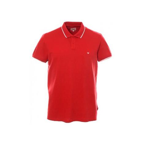 Polo triko Wrangler Scarlet Red pánské červené