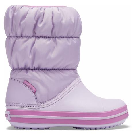sněhule Crocs Winter Puff boot - lavender