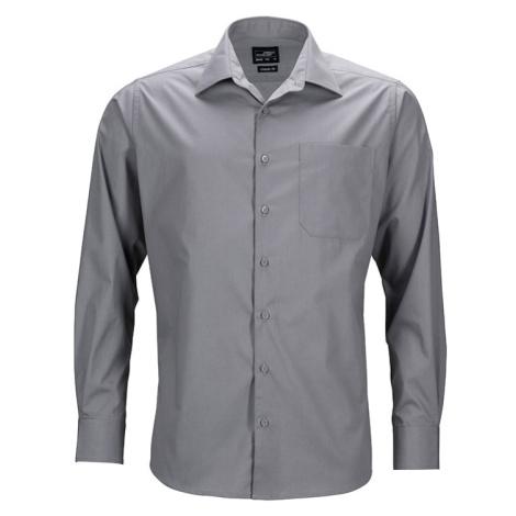 Pánská košile s dlouhým rukávem JN642 James & Nicholson