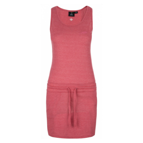 KILPI Dámské šaty MAZAMET-W KL0218KIPNK Růžová