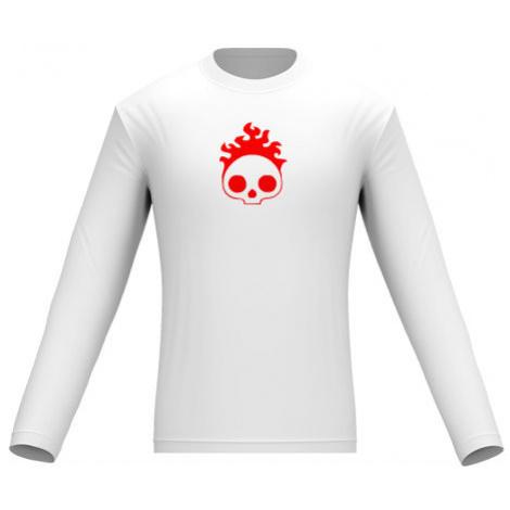 Pánské tričko dlouhý rukáv Burning skull