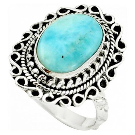 AutorskeSperky.com - Stříbrný prsten s larimarem - S3190