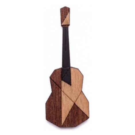Dřevěná brož Guitar Brooch