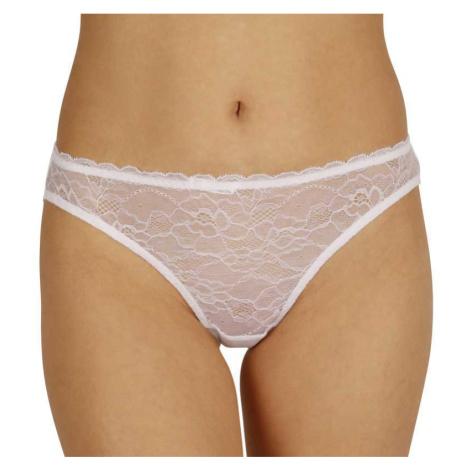 Dámské kalhotky Gina bílé s krajkou (16102)