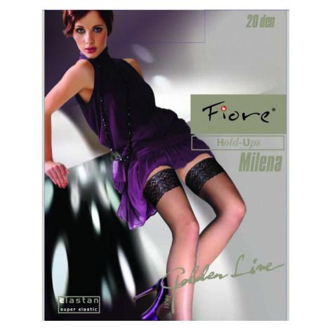 Dámské samodržící punčochy Fiore Milena 20 den černá