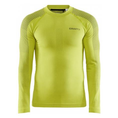 Pánské tričko CRAFT ADV Warm Fuseknit Intensity LS žlutá