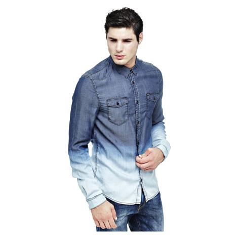 Guess pánská modrá košile Ombre
