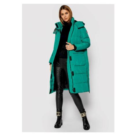 Tommy Jeans dámská zelená bunda