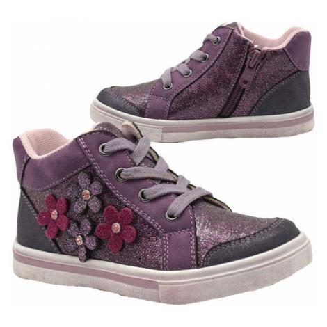 boty dívčí celoroční, Bugga, B00147-06, fialová