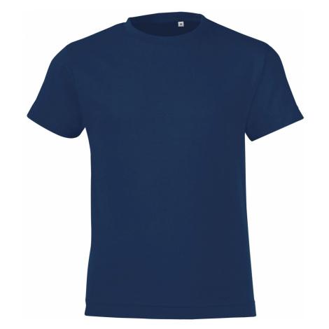 SOLS Dětské triko REGENT FIT KIDS 01183319 Námořní modrá SOL'S