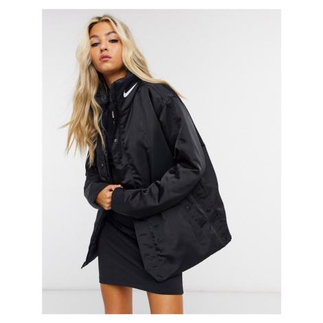 Nike premium coat with tonal branding in black