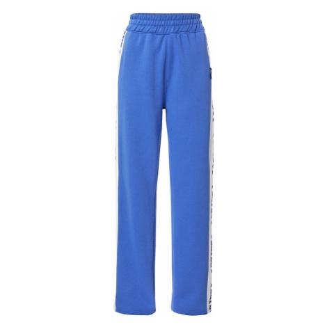 Missguided Kalhoty 'PLAYBOY' nebeská modř / bílá